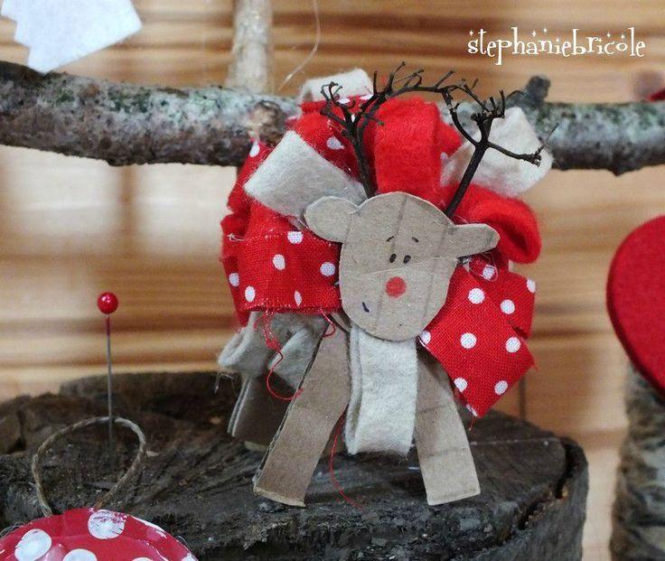 TUTO DIY Noël - Faire un renne rigolo en carton et ruban ...