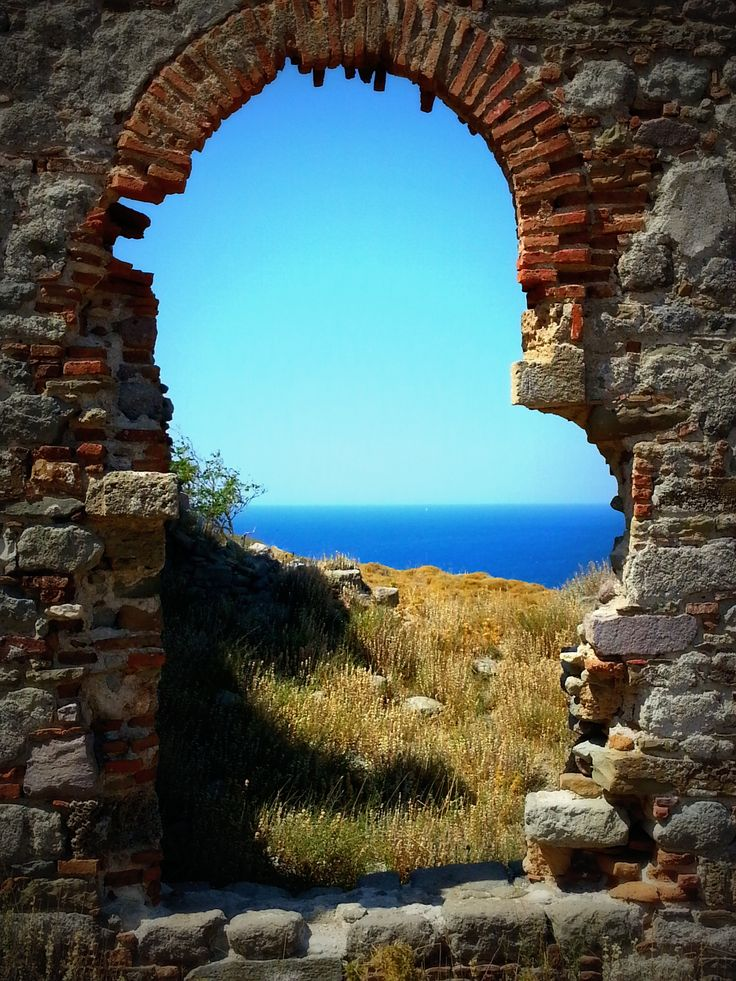 View from the castle of Murina, Limnos island, Greece