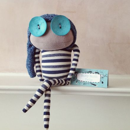 New Ruby Ruth Dolls! - Jack is a fisherman and poet. £31.50 http://www.arteideas.co.uk/ruby-ruth/831-jack-ruby-ruth-dolls.html #rubyruth #rubyruthdolls #gifts #locallysourced #recycled #handmade