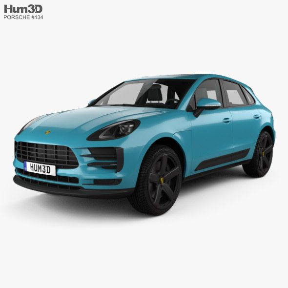 Porsche Macan S 2018. Fully editable and reusable 3D model of a car. #3D #3DMode…