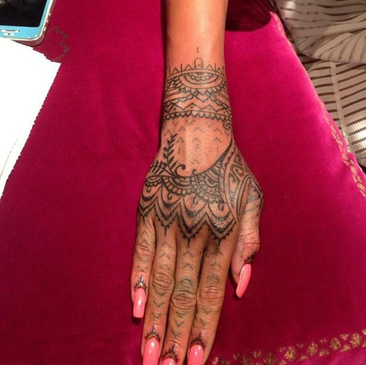 better shot  'My friend @badgalriri newest addition,' McCurdy wrote, sharing the photo of her finished hand.