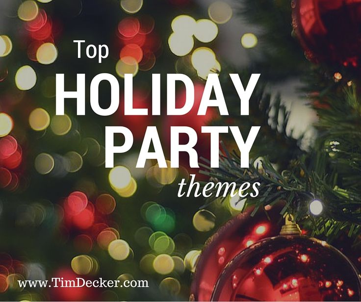 Top Holiday Party Themes: Show your employees how much they are appreciated by throwing a themed holiday party. Find holiday party theme ideas for your corporate or company Christmas party here: http://www.timdecker.com/blog/company-party-ideas-themes-next-holiday-party/  #eventprofs #holidayparty