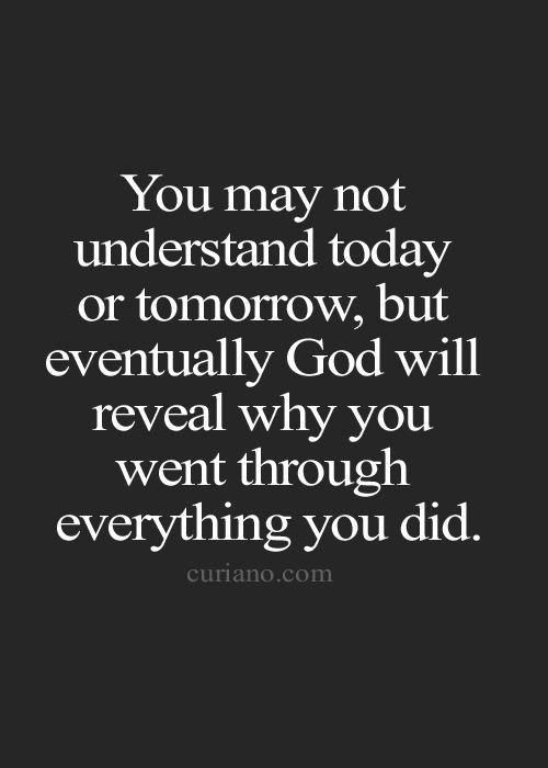 God doesn't always explain Himself but He always reveals Himself