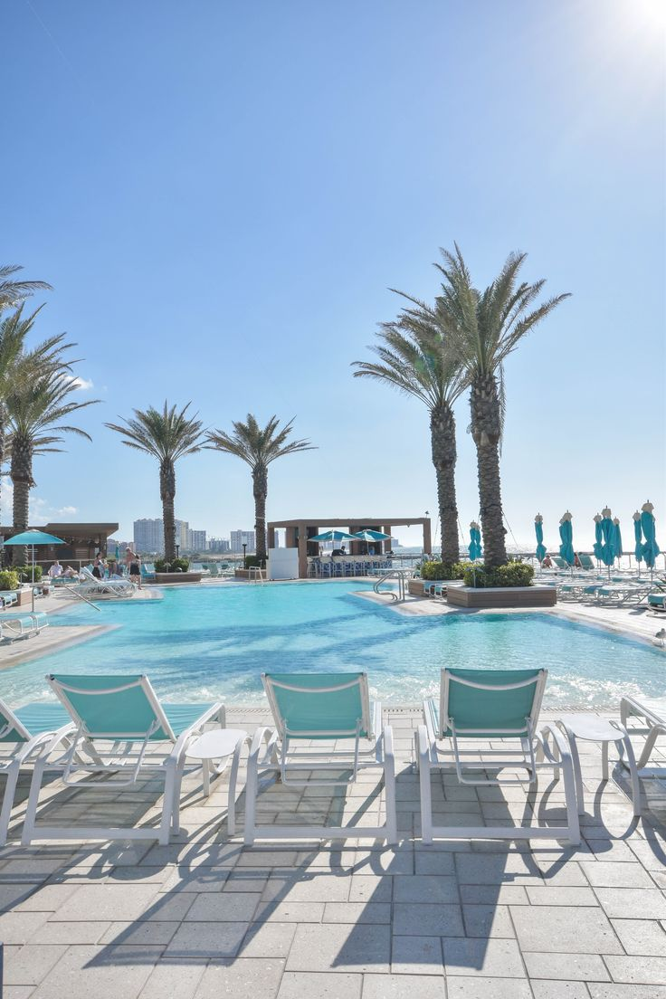 Pool time at the Opal Sands Resort in Clearwater, Florida