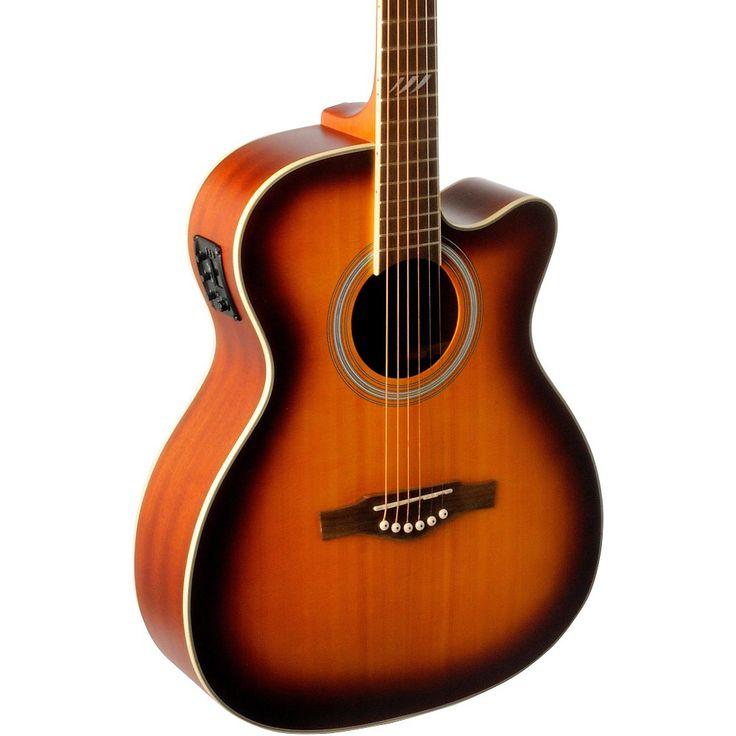 EKO TRI Series Auditorium Cutaway Acoustic-Electric Guitar Honey Burst