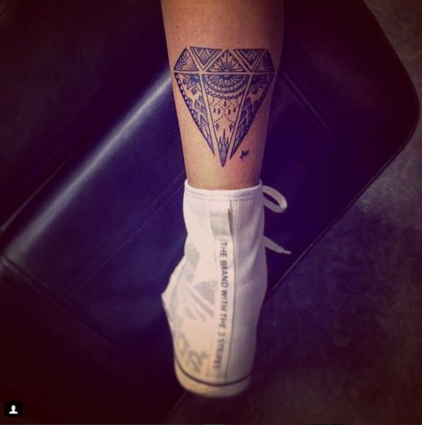 unique diamond tattoo