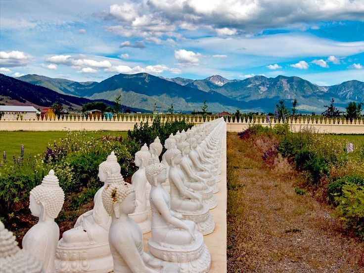 Garden of One Thousand Buddhas in Montana is Open for visitors from dawn till dusk and the centerpiece of the garden is the 24-foot tall figure of Yum Chenmo, the Great Mother of Transcendent Wisdom. | 10 Best Places To Visit In Montana