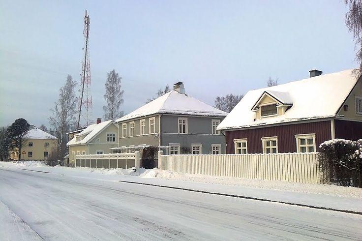 Ilkantie street in the winter, Ilmajoki.