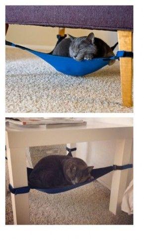 Mijn kat is er helemaal weg van! Heb hen zelf gemaakt van een stof die mooi bij mijn interieur past en natuurlijk lekker ligt!