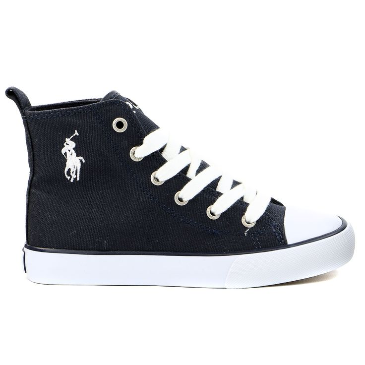 Polo Ralph Lauren Wrentham II Flag Patch Hi Top Fashion Sneaker Shoe - Boys