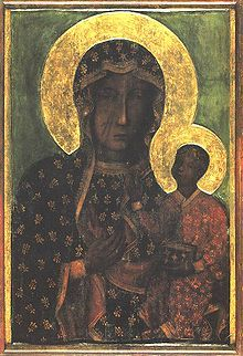 Black Virgin of Częstochowa (Poland).   The tradition reports she was  painted by St. Lucas over the wood of the Holy Cross, like the Black Virgin of Bologna (Italy): Religious Art, Mother Mary, Black Madonnas, Lady, Icons, Virgin Mary, Poland