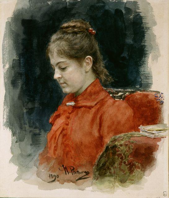 Репин И.Е. Портрет Е.В.Лавровой. 1890.  ГРМ