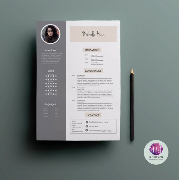 17 Best Chic , Modern Resume / Cv Templates Images On Pinterest