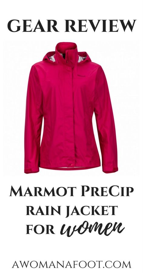 Read the review of Marmot PreCip Women's Rain Jacket - a perfect choice for a female adventurer that won't crush your budget! | What rain jacket to buy | Female hikers | Hiking clothes for women | Rain jacket for women | Budget rain jacket for female hikers | Outdoor apparel | Gifts for her | Female hikers | Gear review | Awomanafoot.com