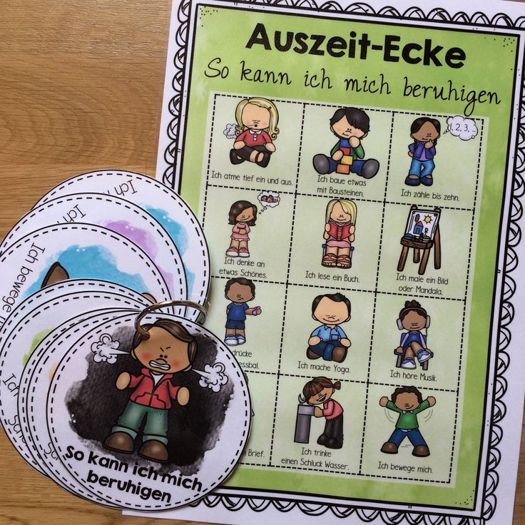 Auszeit-Ecke – Package – Posters and picture cards, exercises – Teaching material in the subjects Interdisciplinary & Sports