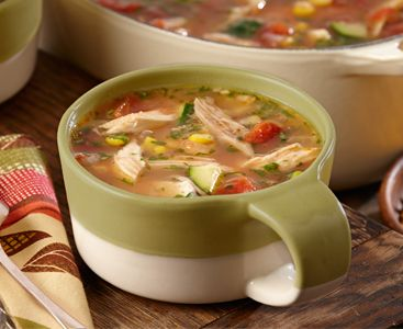 Use leftover chicken or turkey to make these: Zesty Chicken Tortilla Soup. Get more recipes at Perdue.com