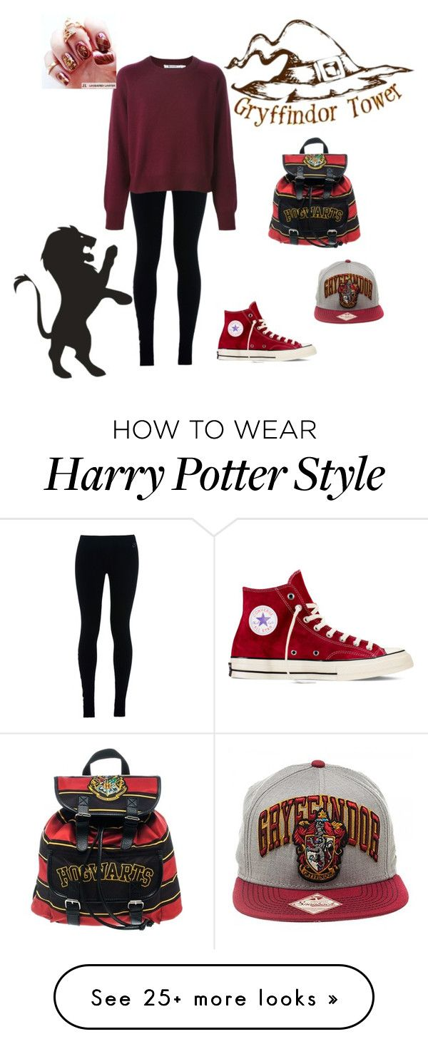 """""""Gryffindor?"""" by funnyschatzi on Polyvore featuring moda, NIKE i Converse"""