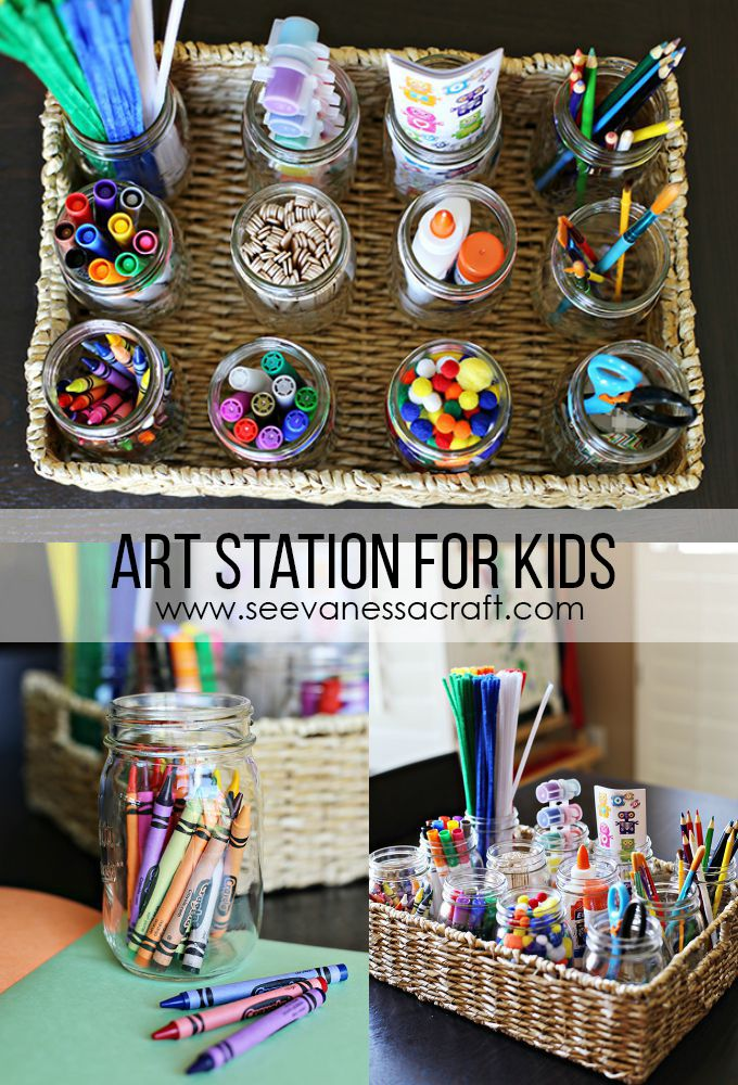 Kid friendly art station for kids art station ads and for Arts and crafts stores near my location
