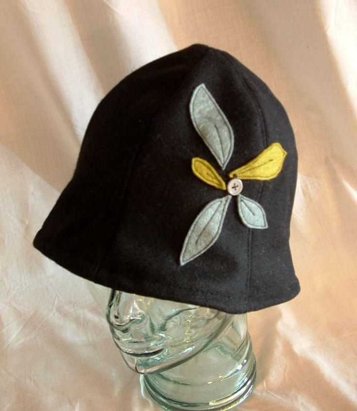 Piccadilly Hat with wool applique. $64 CAD (2013)