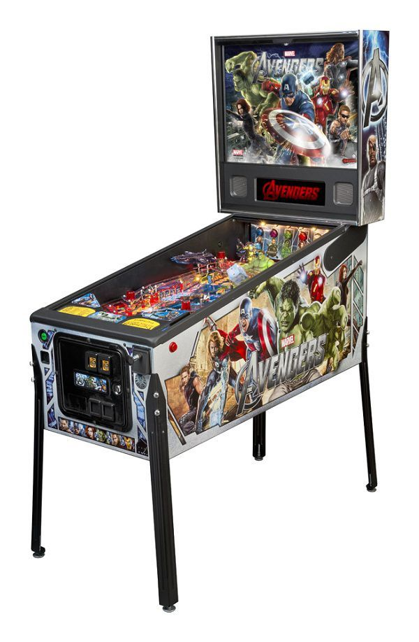 The Avengers Pinball is a wonderful looking game by http://www.SternPinball.com