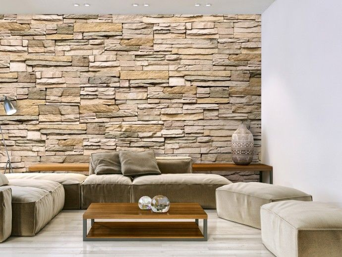 Carta da parati moderna Decorative Stone Decorazioni