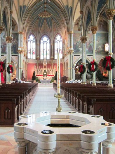 Don't miss the breathtaking interior and stained glass windows of the oldest Catholic cathedral in Georgia.