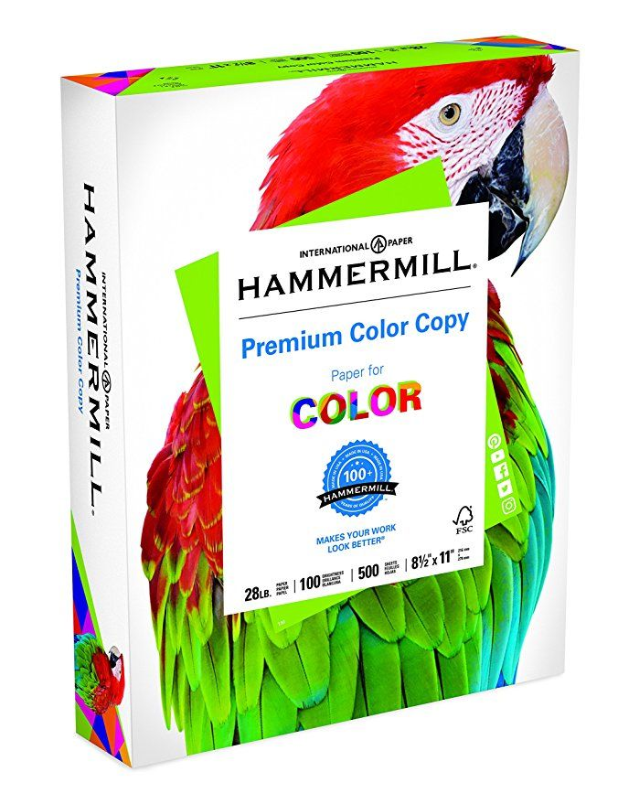 Hammermill Paper Premium Color Copy Paper 8 5 X 11 Paper Letter Size 28lb Paper 100 Bright 1 Ream 500 Sheets Premium Colors Color Copies Digital Paper
