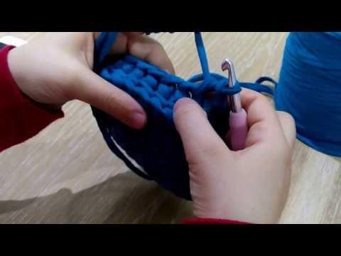 Penye ip ile fıstık modeli sepet yapılışı - YouTube