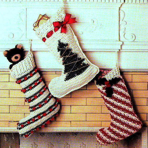 Vintage Crochet Pattern Christmas by PastPerfectPatterns on Etsy