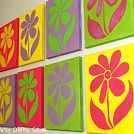 Foil Flowers Wall Décor DIY :: Hometalk