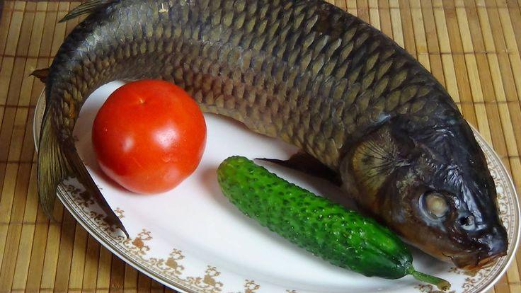 Горячее копчение рыбы (карп).