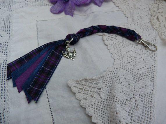 Fierté de l'Ecosse tartan porte-clef - charme chardon écossais