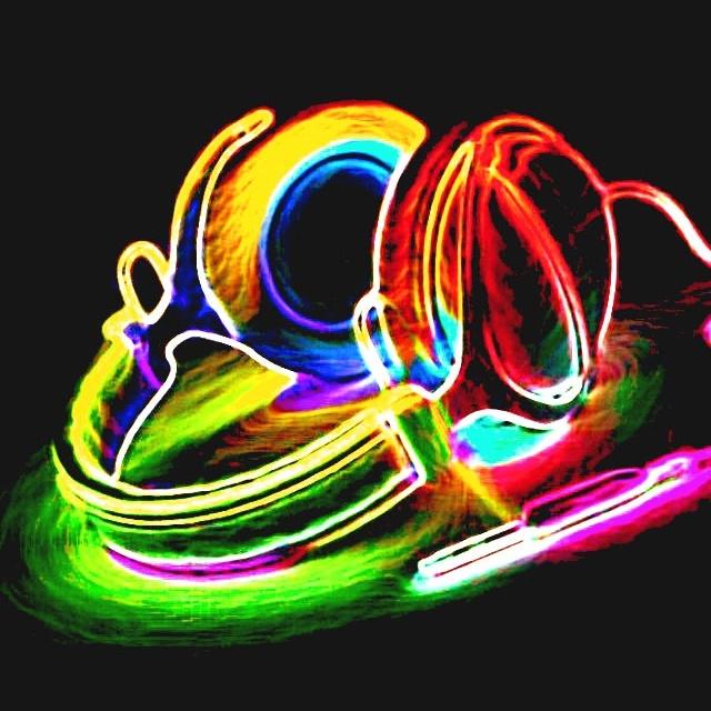 Headphones Wallpaper: Neon Headphones
