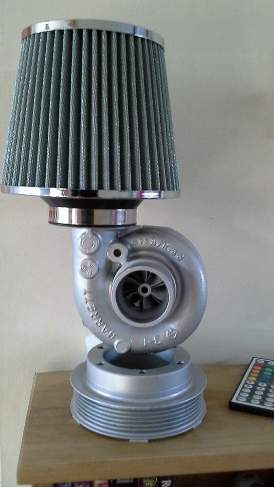 Details about turbocharger lamp, mancave, office, steam ...