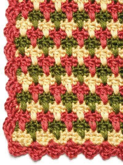 Pretty use of color, a simple stitch.
