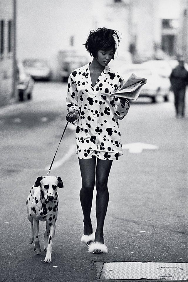 Naomi Campbell photographed by Peter Lindbergh, Vogue, June 1990
