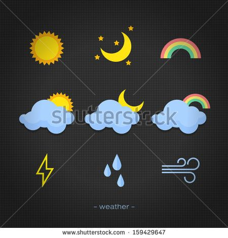icon weather on back background http://www.shutterstock.com/pic-159429647/stock-vector-icon-weather-on-back-background.html?src=kf6DuYeydaJbeAU9sja52A-1-7