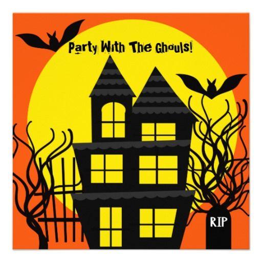 Halloween Haunted House Custom Invitation Halloween