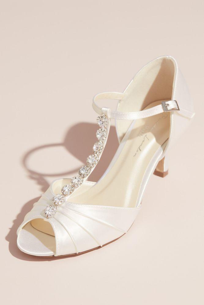 Block Heel Crystal Embellished Sandals