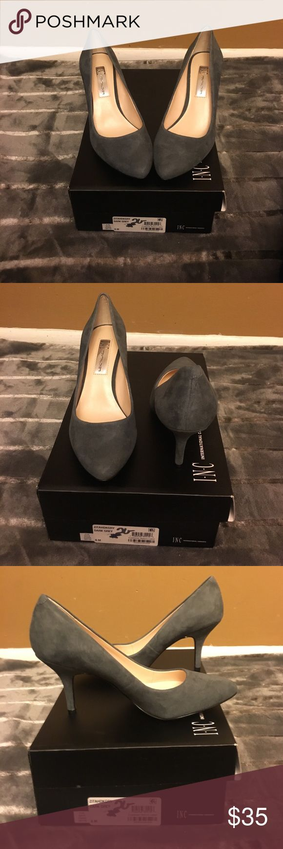 INC heels, gray, size 6 and 6.5 and 8 Brand-new, in box inc gray heels size 6. 6.5, 8 INC International Concepts Shoes Heels