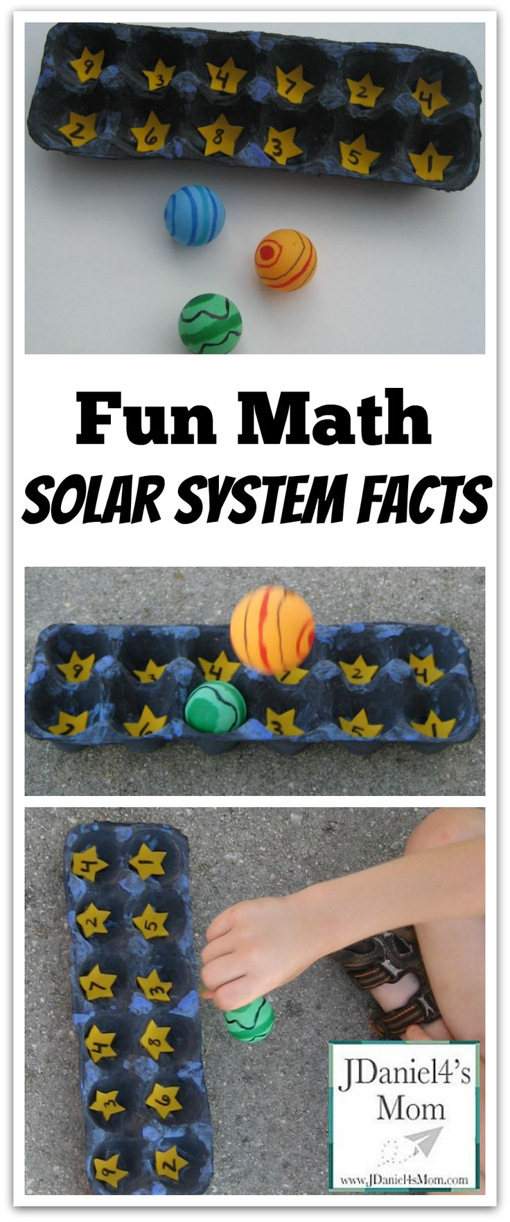 Math Fun: Practice Math Fact with a Hands on Solar System Game!