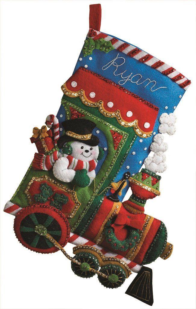 Bucilla 18 pulgadas media de la Navidad de fieltro Kit de apliques, Candy expreso