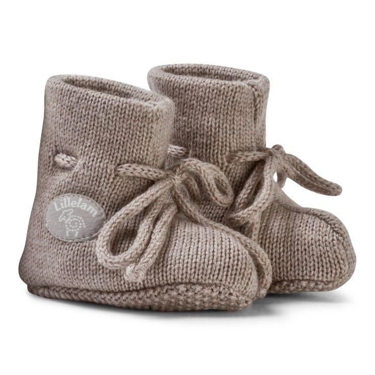 Lillelam Baby Slippers Basic Beige Beige