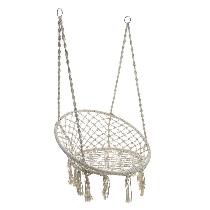 Hanging Armchair Macrame Fabric Beige 60x80 #homerecipegr