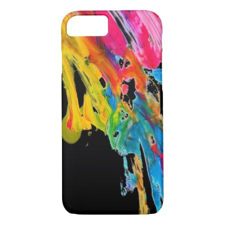 paint splatter color colors class brush stroke pap iPhone 7 case - tap to personalize and get yours
