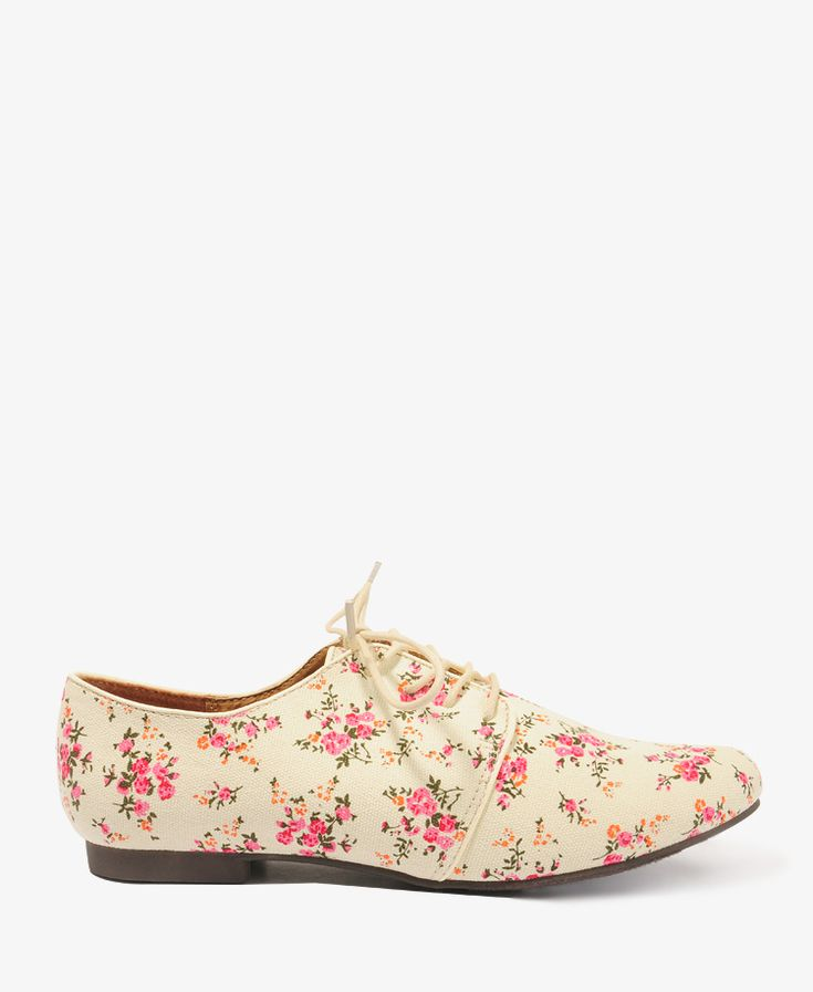 Floral canvas oxfords at Forever 21