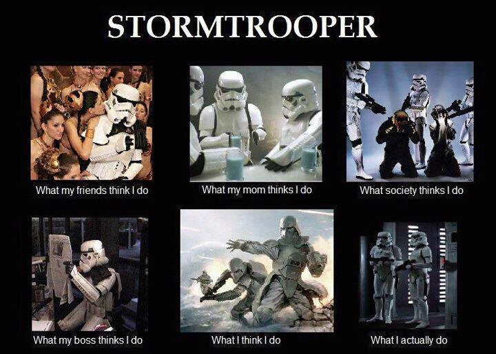 What they do: Stormtroopers