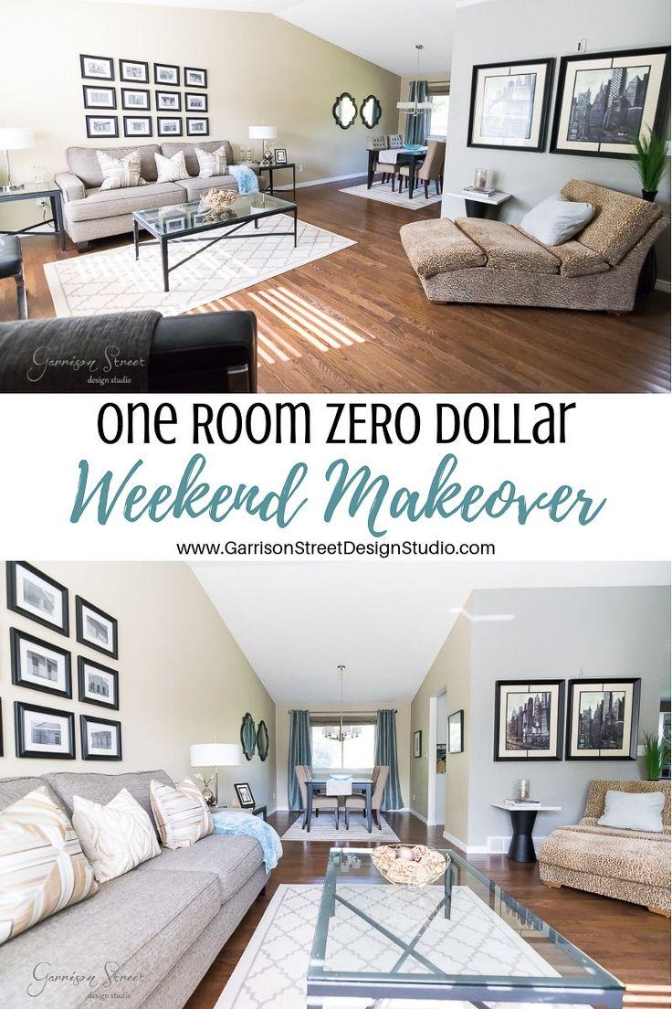 One Room Zero Dollar Weekend Makeover Diy Living Room