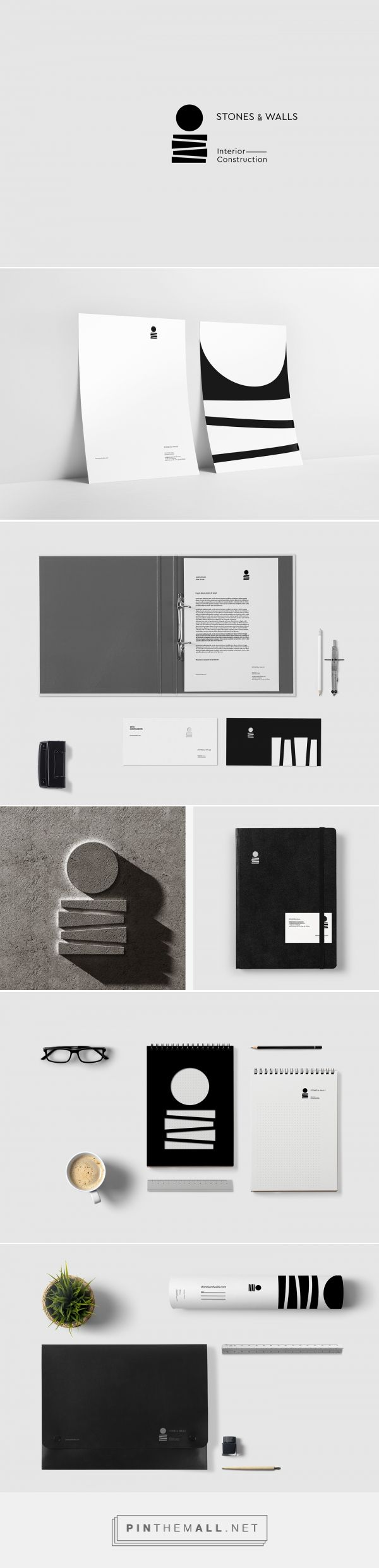 Stones & Walls Interior Construction Branding by Luminous Design Group | Fivestar Branding Agency – Design and Branding Agency & Curated Inspiration Gallery http://jrstudioweb.com/diseno-grafico/diseno-de-logotipos/