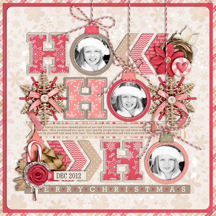 Used the following from the Sweet Shoppe:  *NEW Nov 16th* Template: Christmas Single 5 by Cindy Schneider *NEW Nov 16th* Mrs. Frost by Kr...